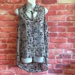 Forever 21 sleeveless Tunic tribal pattern Size S